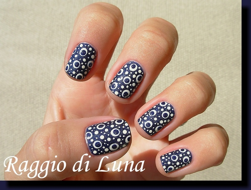 Crazy dots on Tristam nail art by Tanja