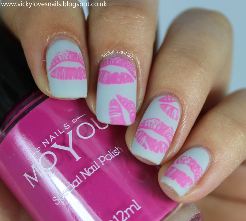 Lipstick Kisses nail art by Vicky Standage - Nailpolis: Museum of ...