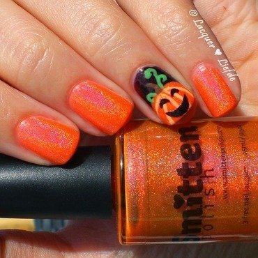 Little Pumpkin nail art by Anna