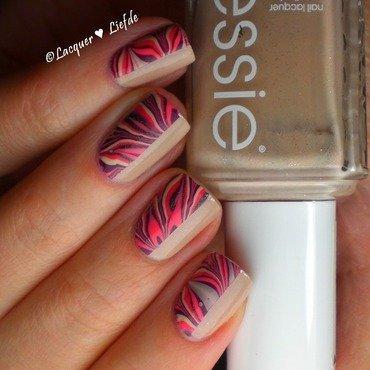 Half-Nail Marble  nail art by Anna