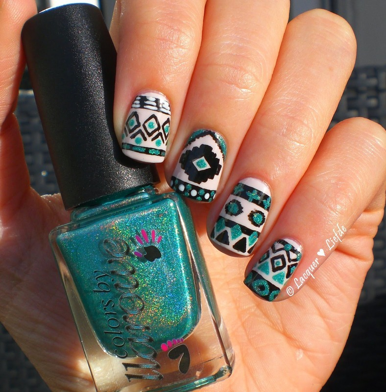 Geometric Nailart nail art by Anna