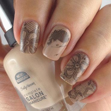 Sally Hansen Shore Enough, Midnight in NY & Stamping nail art by Natasha
