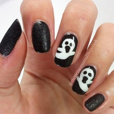 Halloween Mani nail art by Alexandra