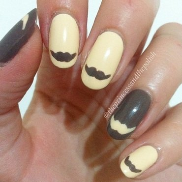 Movember Nails nail art by Alexandra