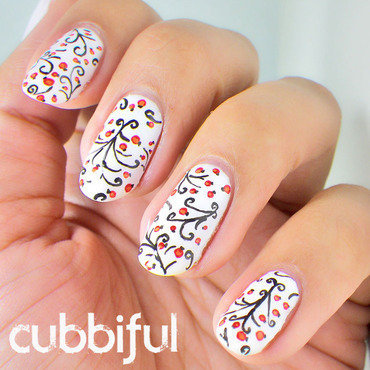 Winter Nails nail art by Cubbiful