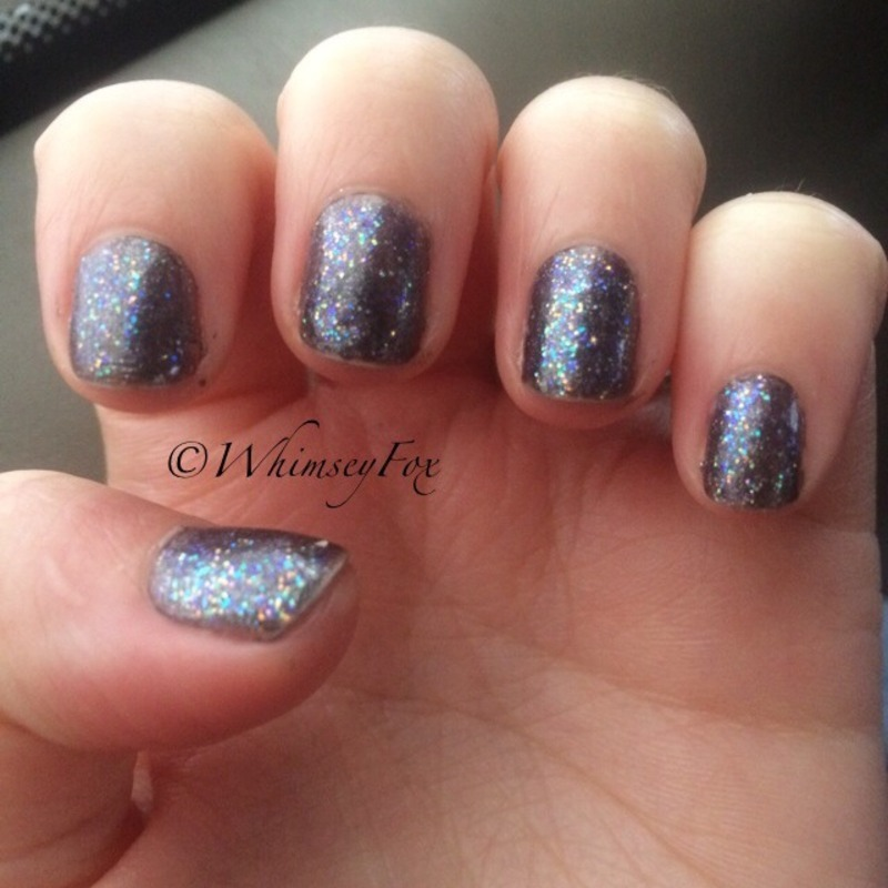 Sally Hansen Disco Ball and Wet'n'Wild beauty benefits Unnamed Swatch by WhimseyFox