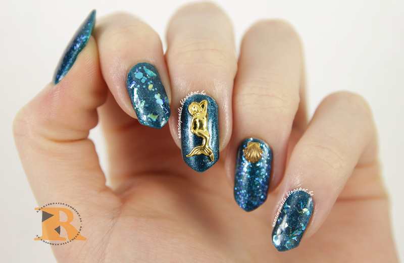 Mermaids! nail art by Robin