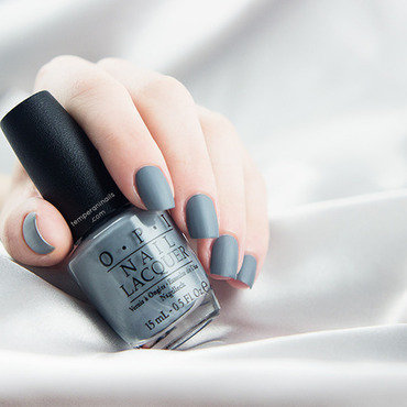 Opi fifty shades of grey embrace the gray swatch matte thumb370f