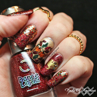 The Golden ummm Turkey nail art by Karolyn