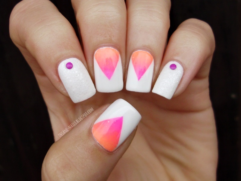 Gradient Triangle Nails Nail Art By Sanela Nailpolis
