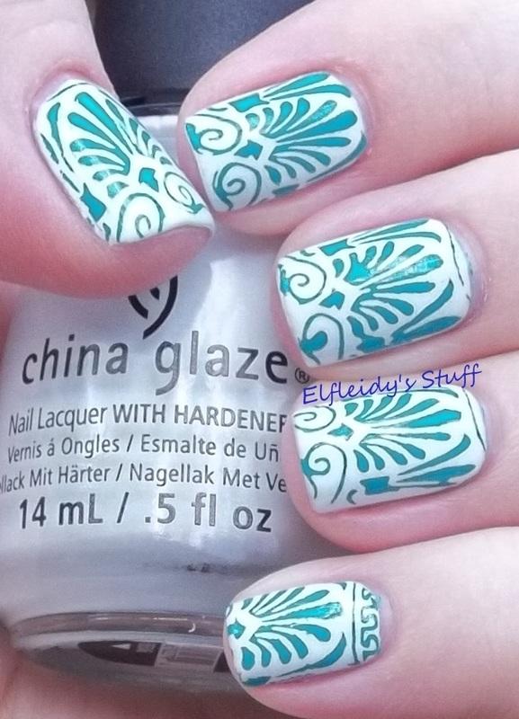 Stamping Sunday 11-30-2014 nail art by Jenette Maitland-Tomblin