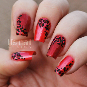 The Red Leopard nail art by Lily-Jane Verezen