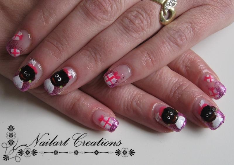 Sinterklaas Nailart nail art by Nailart Creations
