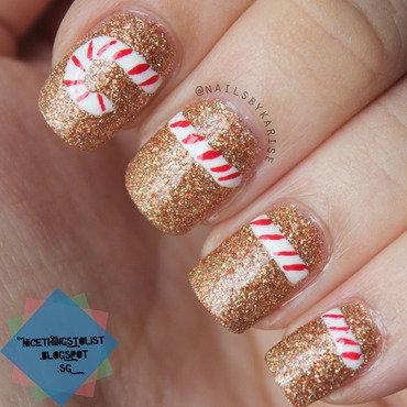 Nailartchallengedec candy cane nail art thumb370f