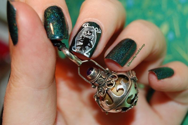 Jack skellington nail art nail art by Dorothy NailAssay - Nailpolis ...