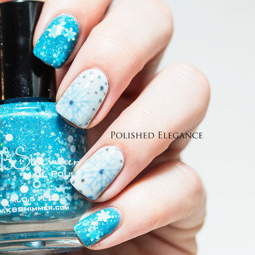 Snow Crystals nail art by Lisa