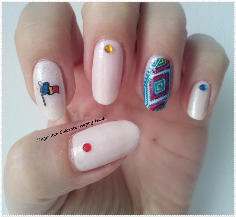 Happy birthday Romania!!!! nail art by Oana  Alexandru