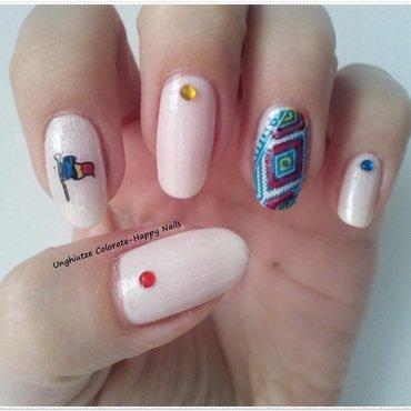 Happy birthday Romania!!!! nail art by Oana  Alexandru