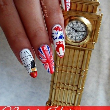 England nail art by Nail_it_hot