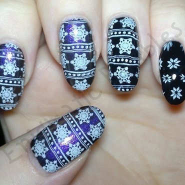 Snowflake Festive Sweater Nails nail art by Enigmatic Rambles