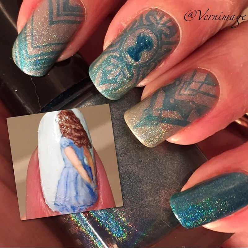 Will Alice step into Wonderland? nail art by Vernimage