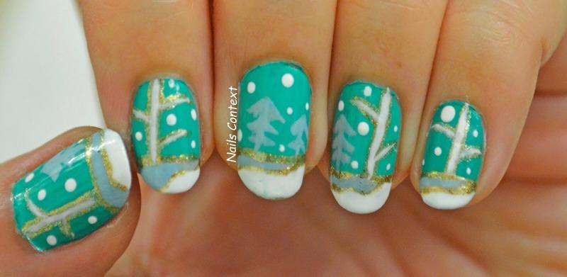 Winter Woods nail art by NailsContext