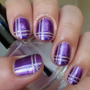 Purple 20and 20holographic 20neutral 20plaid 20nail 20art thumb370f