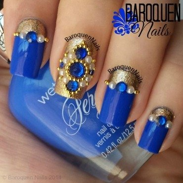 Imperial Jewels  nail art by BaroquenNails