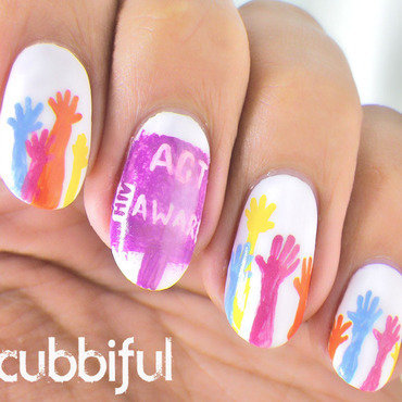 Raise awareness nail art thumb370f