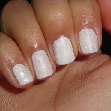 Winter Wonderland- Snow Effect nail art by Jessica