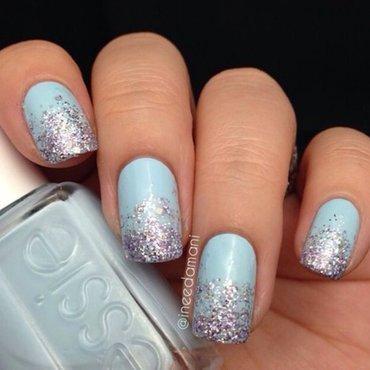 Glitter Gradient nail art by Carmen Ineedamani
