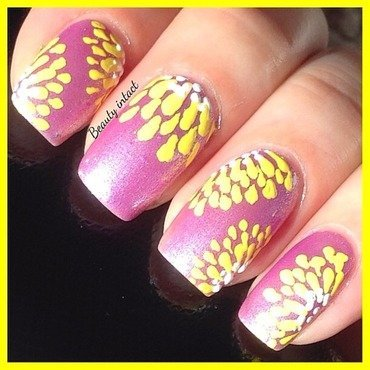 Purple Diamond nail art by Beauty Intact