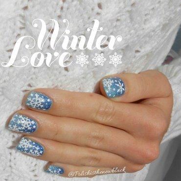 Winter Wonderland nail art by Polishisthenewblack