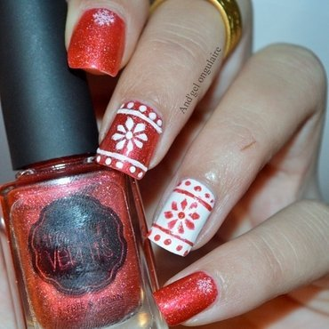 No Comment et ses flocons  nail art by And'gel ongulaire