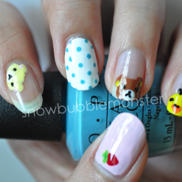 San-X: Rilakkuma Themed Nails nail art by snowbubblemonster
