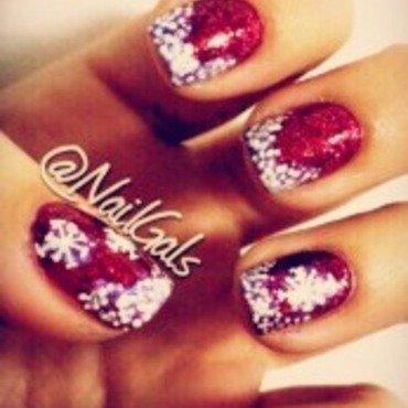 Snowflake mani nail art by NailGals