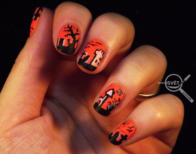 Halloween nail art by Mikrosvět by Ellen