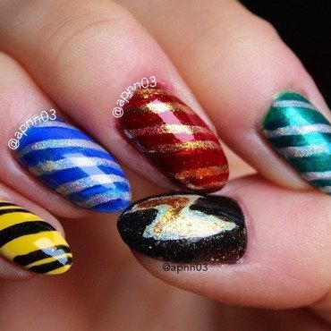 Harry Potter House Claws nail art by Amanda