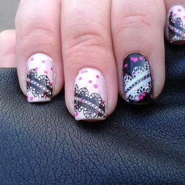 Lace nail art by Jájis