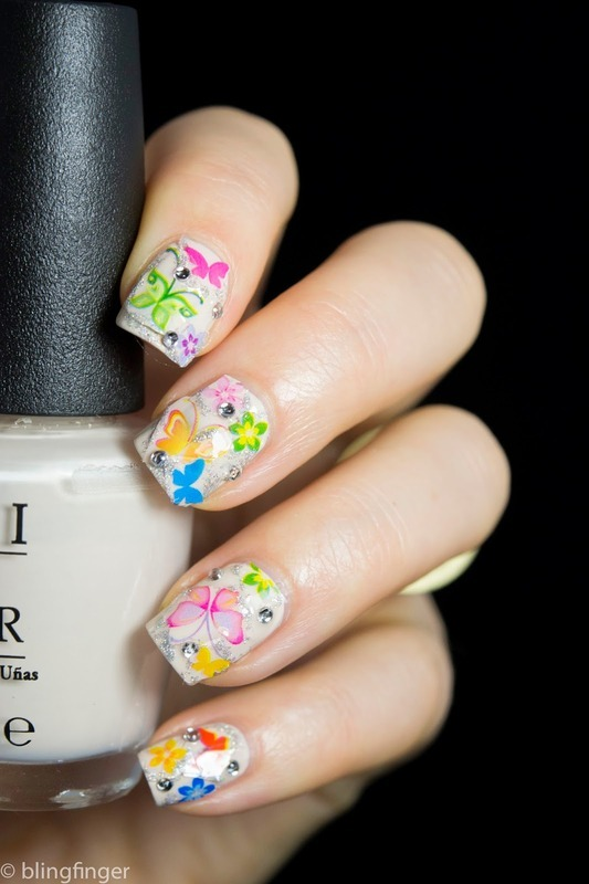 Butterfly Nail Foil nail art by  Petra  - Blingfinger