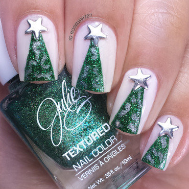 Christmas Trees nail art by Rose Mercedes