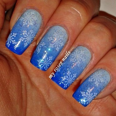 First snow  nail art by Ewa