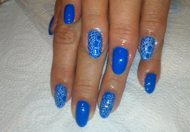 Blue! :) nail art by Lakierowniczka
