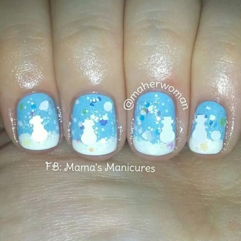 Winter Wonderland nail art by Mama's Manicures (maherwoman)