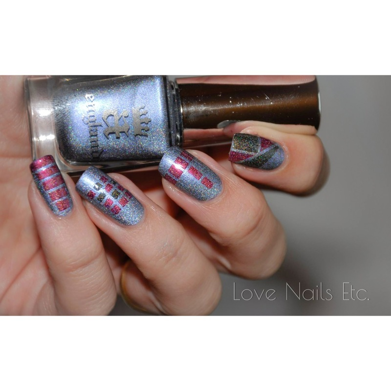 Crazy stripe! nail art by Love Nails Etc