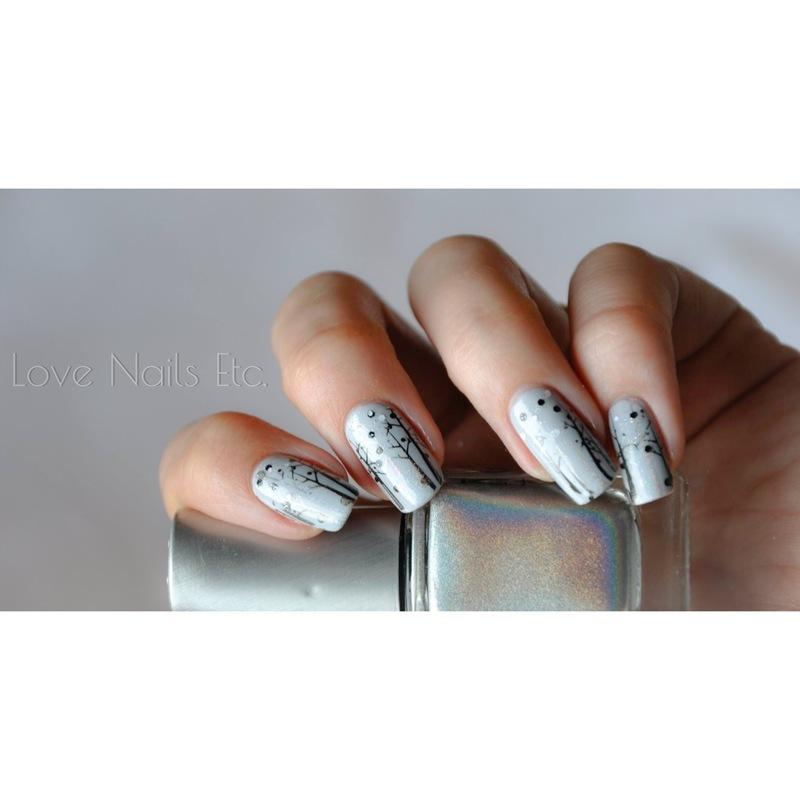 Winter nails nail art by Love Nails Etc
