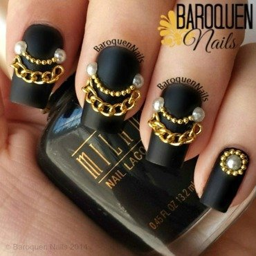 Chain Reaction nail art by BaroquenNails
