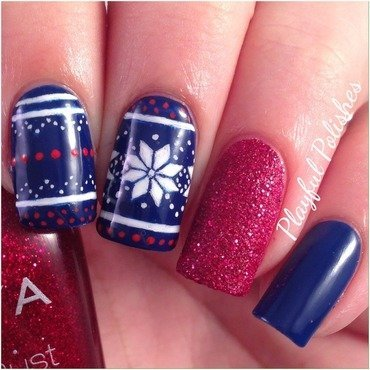 Fair Isle Nail Art  nail art by Playful Polishes