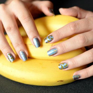 Banana nails nail art by Sweapee