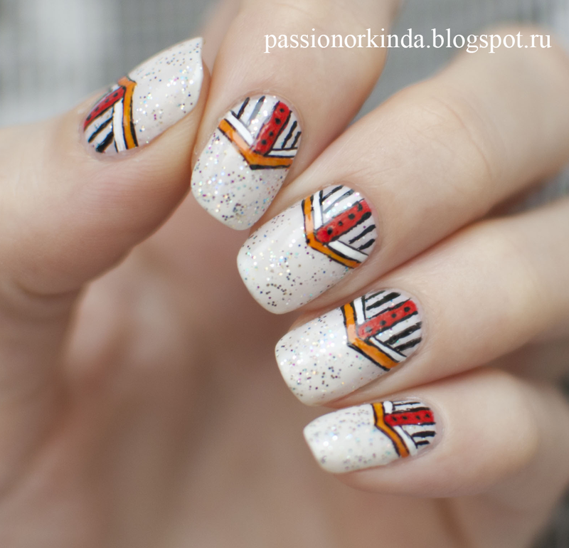 African pattern nail art by Passionorkinda